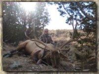Jill Ham with her elk