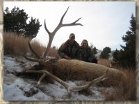 Fred and Carol with their elk